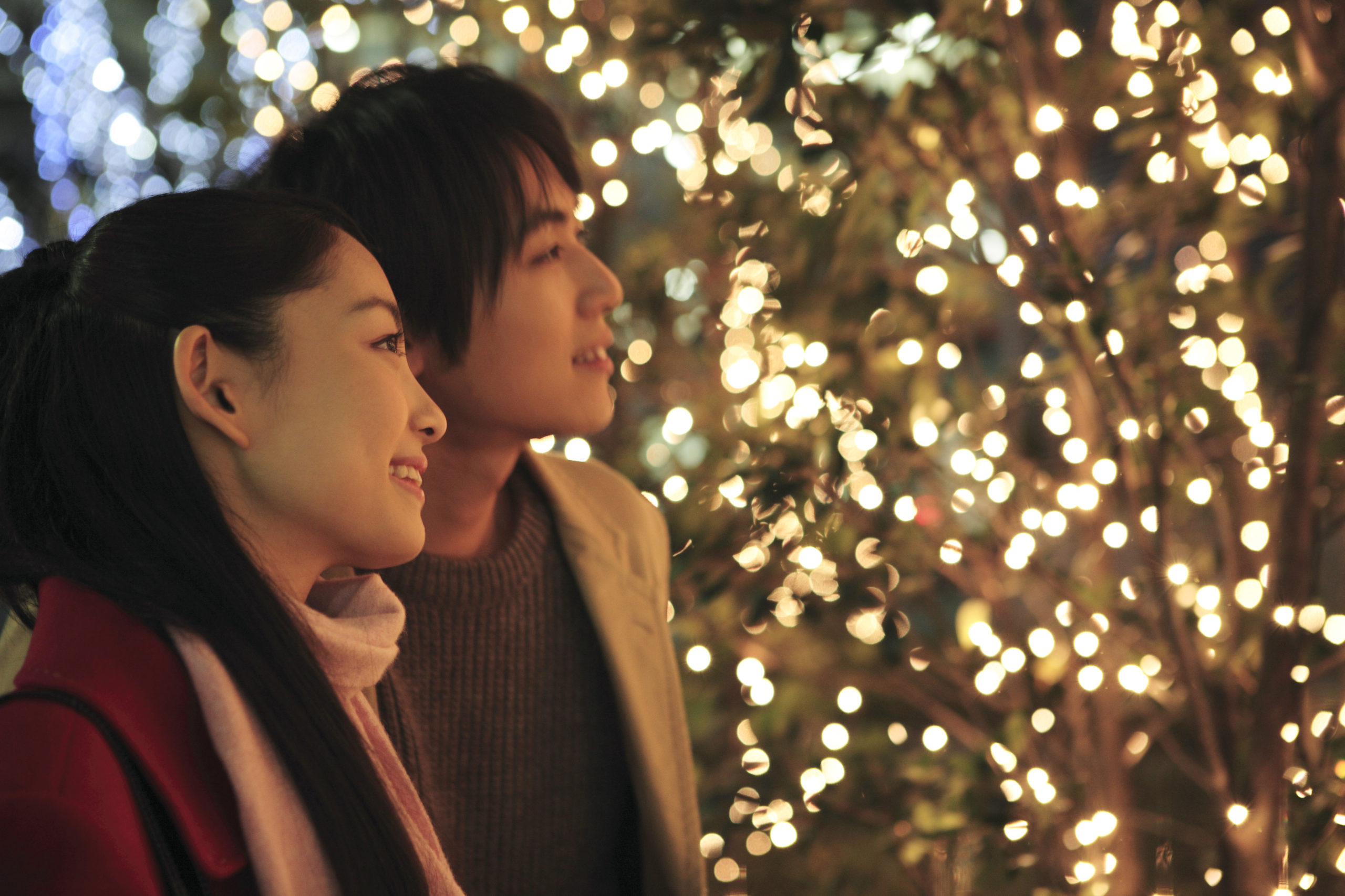 Japanese,Couple,In,Christmas