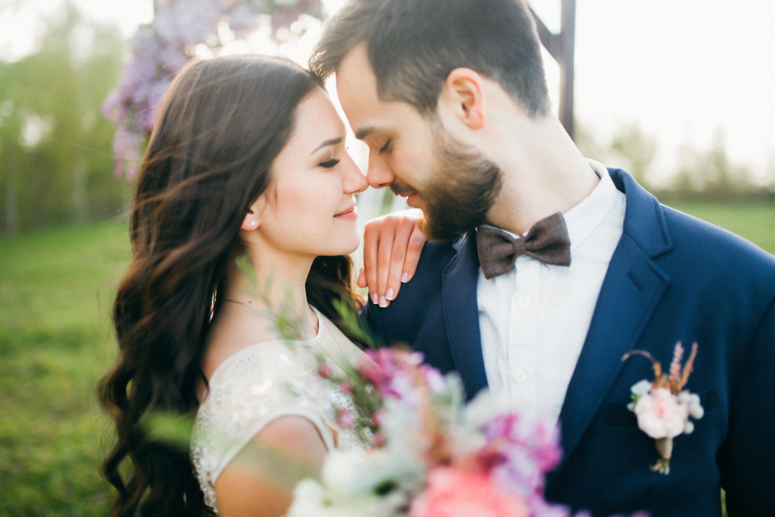 Happy,Bride,And,Groom,After,Wedding,Ceremony