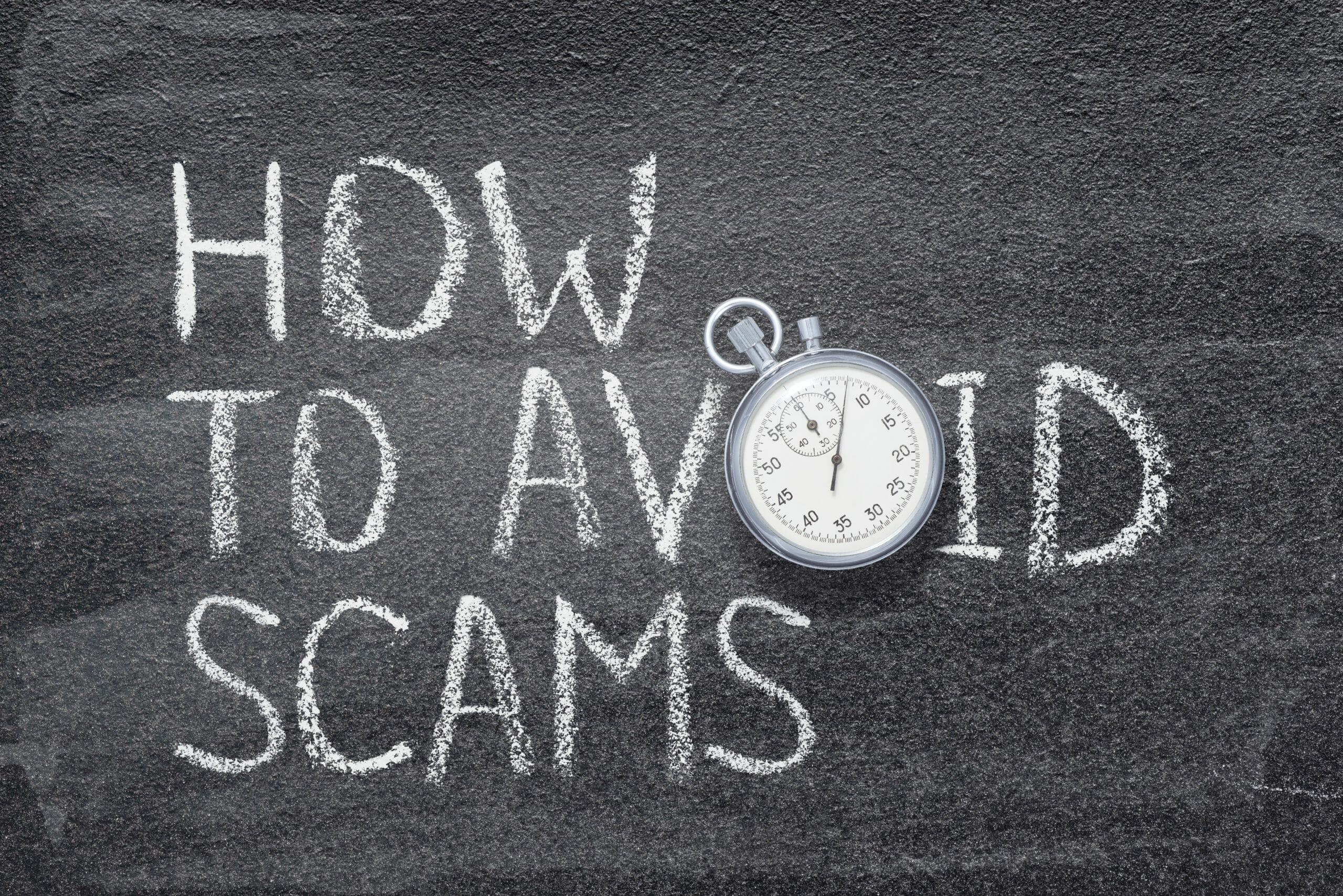 how-avoid-scams-phrase-written-on-1176599833