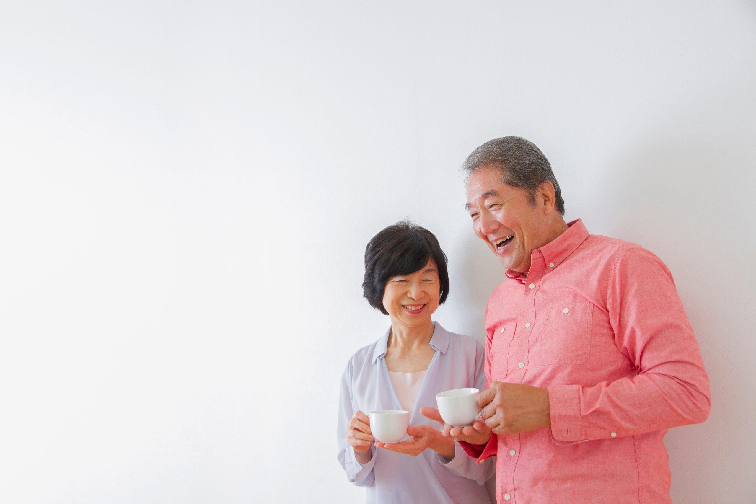 Japanese,Elderly,Couple,Relax
