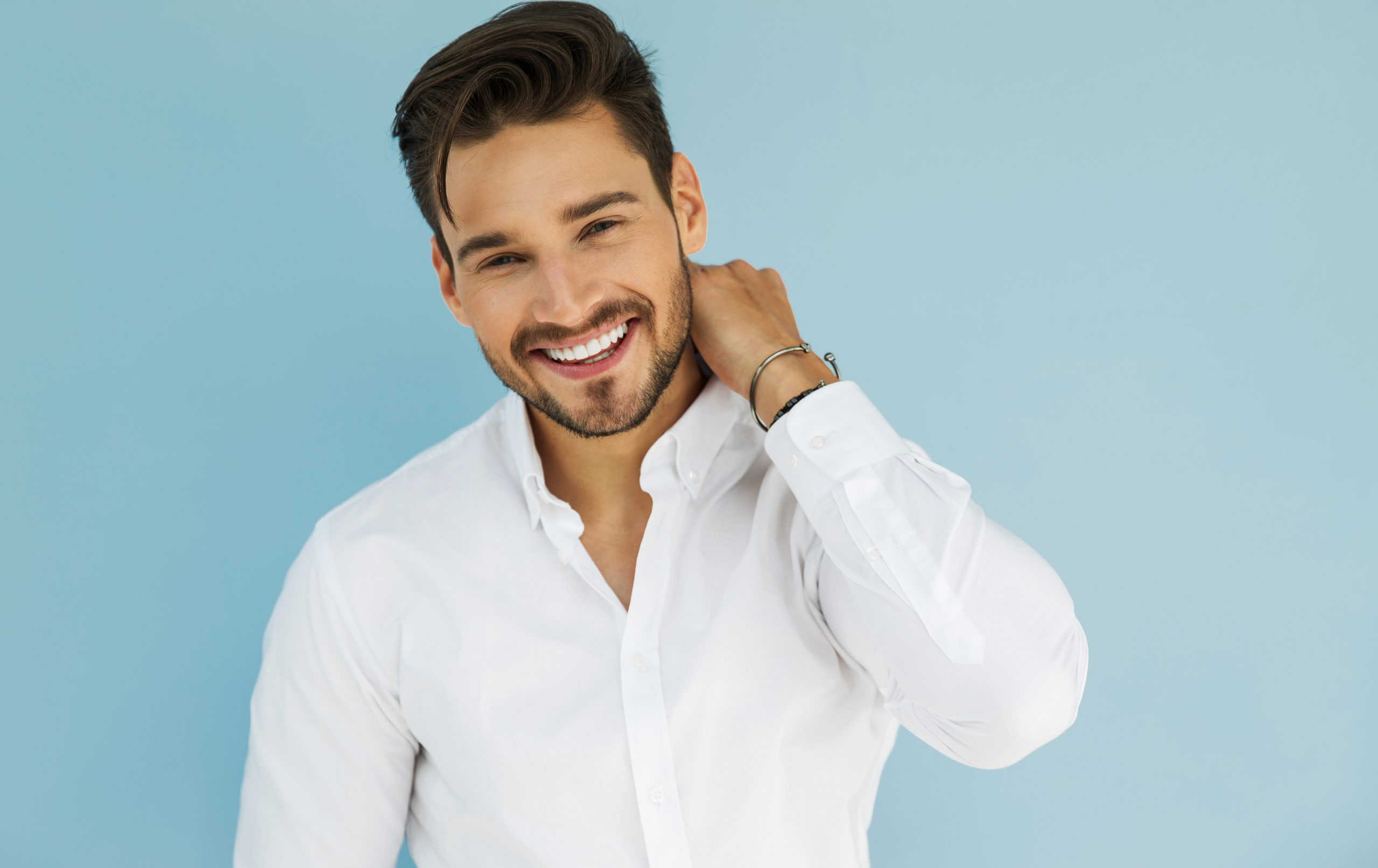 Portrait,Of,Sexy,Smiling,Male,Model