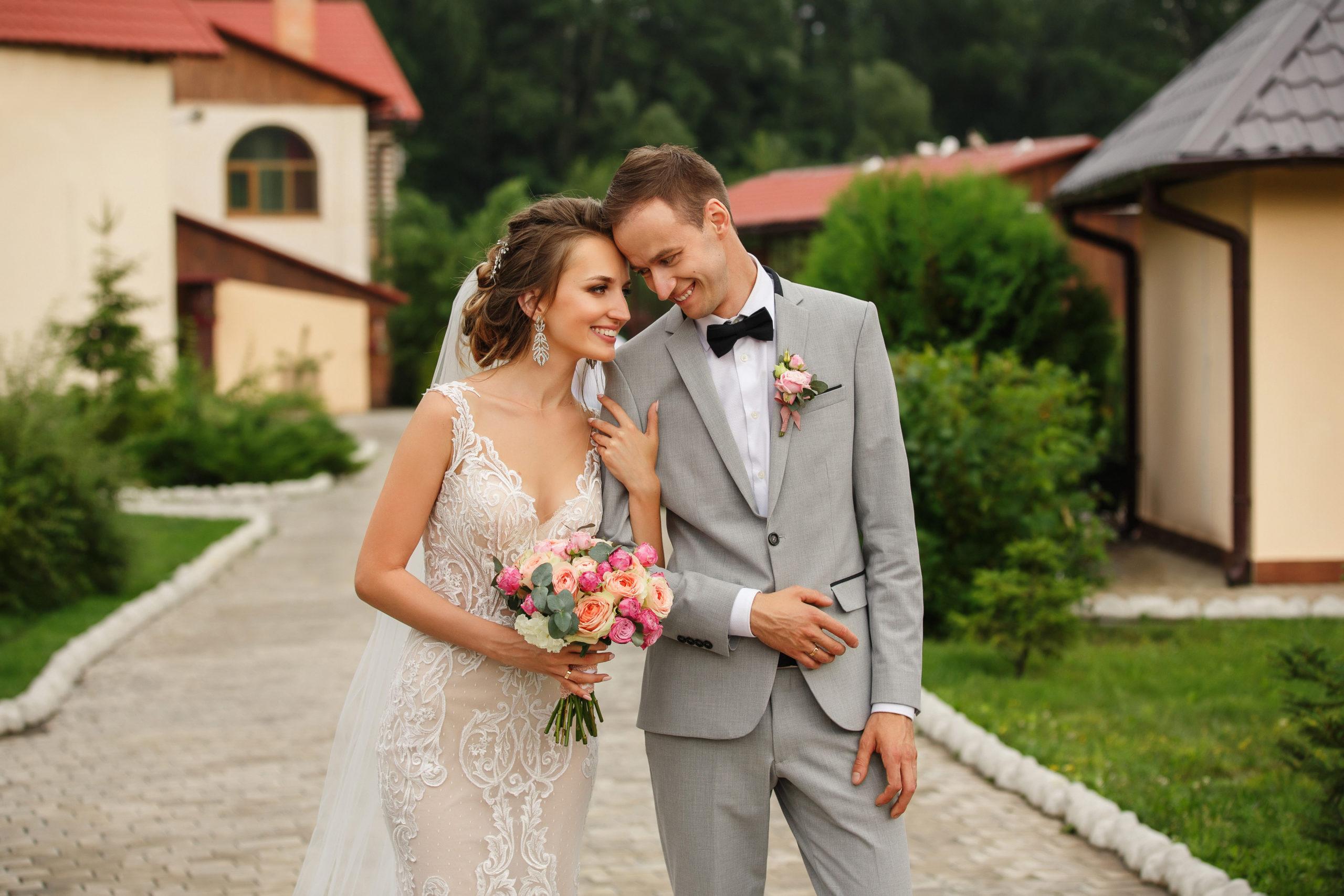 wedding-couple-happy-bride-bouquet-holds-1207000795